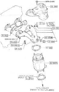 1987 Mazda Truck Front Catalytic Converter: Engine