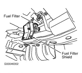 2002 Nissan Frontier Fuel Filter Location: Im Trying to