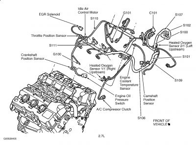 2004 Chrysler Pacifica O2 Sensor Wiring Diagrams