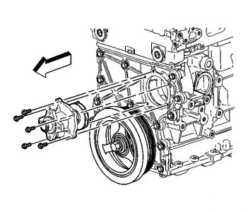Location Of Water Pump On 2004 Chevy Trailblazer, Location