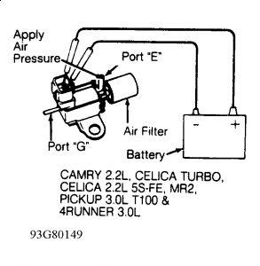 1993 Toyota Camry Egr Valve: My Check Engine Light Came On
