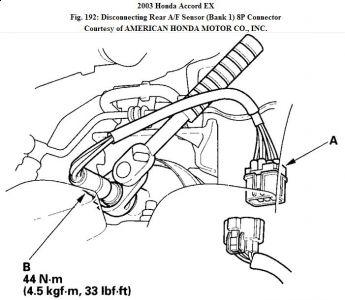 In A 2001 Honda Odyssey Knock Sensor Location Of 2005