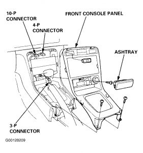 1996 Honda Accord Center Console/Dash: I Need to Get to My