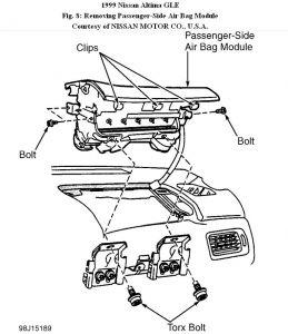 2010 Nissan altima airbag module location
