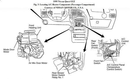 1999 Nissan Quest Raidator Fan Did Not Turn on Low Speed