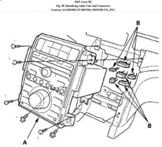 2005 Acura RL Radio and Dash Screws: Interior Problem 2005