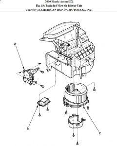 2000 Honda Accord Fan Control Knob: the Dial (knob) in