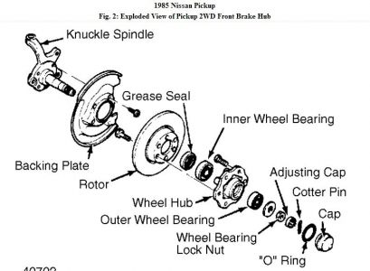 Nissan Front Wheel Bearing Embly Diagram Nissan Sunny