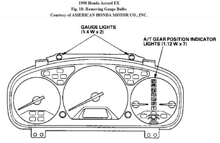 1998 Honda Accord Dash Lights: How to Install Clock,and