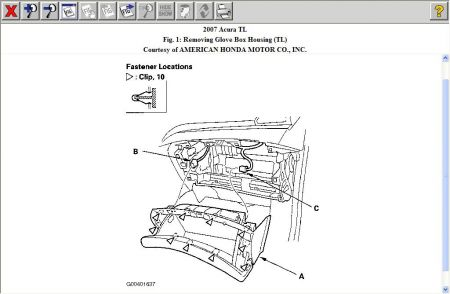 Service manual [Remove Glovebox Assembly 2008 Acura Tl