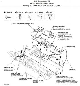 2002 Honda Accord Cupholder Removal: a Key with a Small