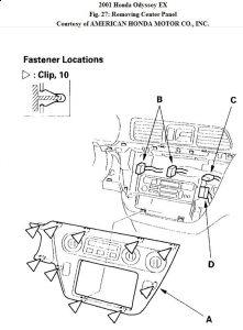 2001 Honda Odyssey Clock Light: How Do You Remove the Dash