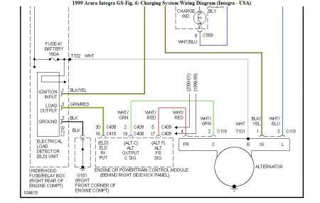 acura integra alternator wiring diagram  89 dodge dakota