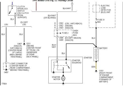 1991 Honda Civic Battery Wiring Diagram Electrical Problem 1991