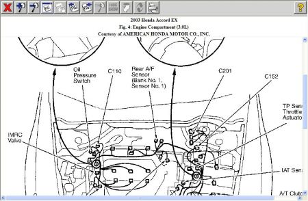2003 Honda Accord Code P2251 and P0138: Engine Mechanical