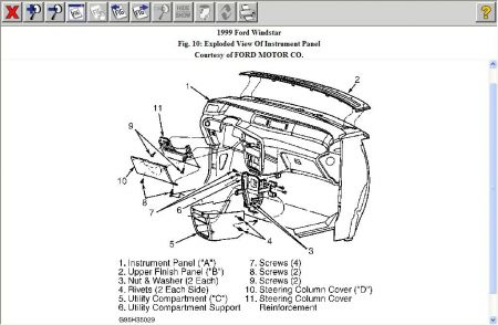 1999 Ford Windstar Need R&r Instructions for Dashboard