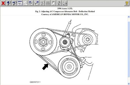 1996 Acura TL Altinator Belt: 1996 Acura TL 6 Cyl