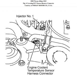 2000 Nissan Altima Coolant Temperature Sensor Location