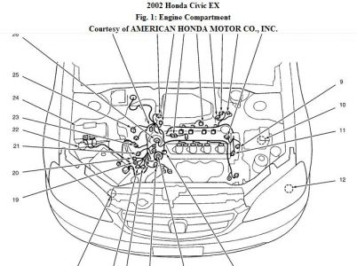 2001 Honda Engine Diagram, 2001, Free Engine Image For