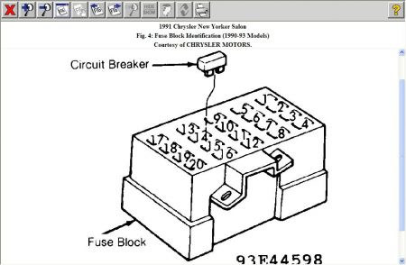 1993 Chrysler New Yorker Fuse Box : 33 Wiring Diagram