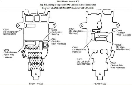 1997 Civic Under Dash Fuse Box Diagram 92 Civic Fuse
