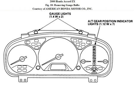 2000 Honda Accord Instrument Panel: Electrical Problem
