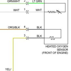 Denso 4 Wire O2 Sensor Wiring Diagram 6 Octagonal Way Mount Martha 1995 Honda Del Sol Sensor: My Wires From The Clip ...