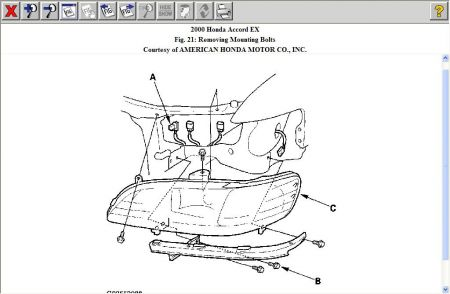 1999 Honda accord headlight wiring diagram