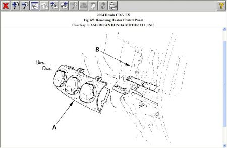 2004 Honda CRV Dash Lights: the Temperature Control Knob