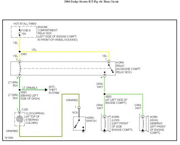 192750_HornCircuit04StratusFig44_1 alt wiring diagram 2004 dodge stratus 1992 dodge shadow wiring 2003 dodge stratus wiring diagram at webbmarketing.co