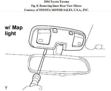 2004 Toyota Tacoma Inside Rear View Mirror: Interior