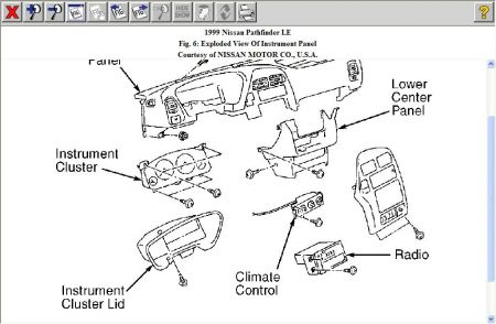 1999 Nissan Pathfinder Instrument Panel Diagram. Nissan