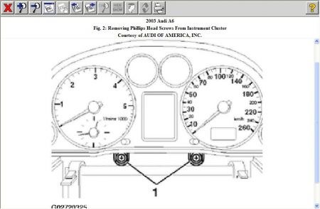 2003 Audi A6 Instrument Cluster and Dash: Interior Problem