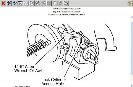 Service manual [Removing Door Lock Cylinder 2008 Chevrolet