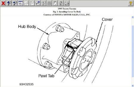 1995 Toyota Tacoma Front Axle Removel: Drive Train Axles
