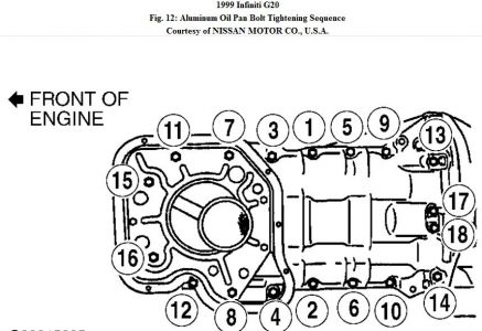 1999 Infiniti G20: Is It Easy to Replace the Lower Oil Pan