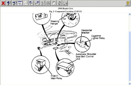 1990 Honda CRX Car Starting Problem: 1990 Honda with PGM