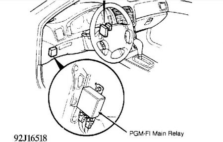 1991 Acura Integra Fuel Pump Relay: Electrical Problem