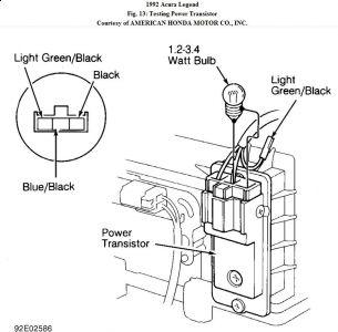 1992 Acura Legend Heator Resister: 92 Acura Legend