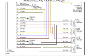 2001 Mitsubishi Galant Car Stereo Radio Wiring Diagram