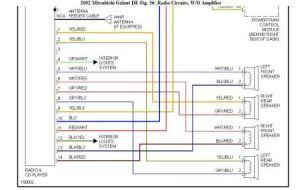 2001 Mitsubishi Galant Car Stereo Radio Wiring Diagram  Somurich