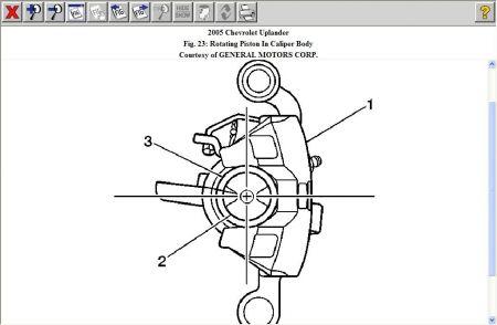2005 Chevy Uplander Cant Compress Rear Brake Cylinder