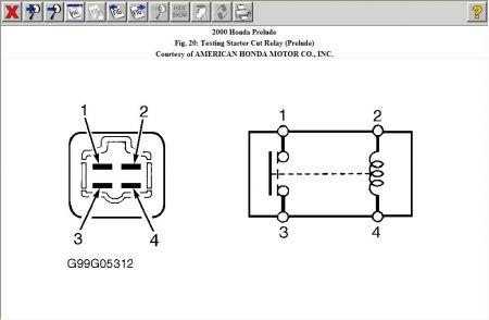 2000 Honda Prelude Srs Relay Electrical Problem 2000 Honda