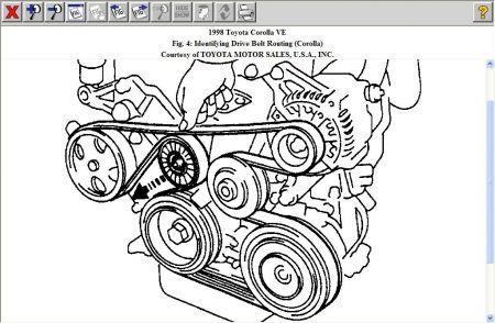 1998 Toyota Corolla Belt Replacement: Engine Mechanical