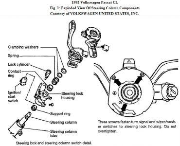 1992 Volkswagen Passat Key Switch: Steering Problem 1992