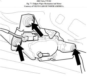 2001 Volvo XC70 Rear Hatch Wiper Motor: Electrical Problem