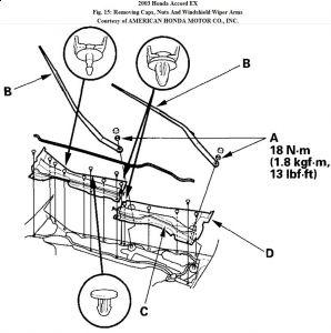 2003 Honda Accord Wiper Linkage: Electrical Problem 2003