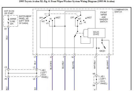 1995 Toyota Avalon the Intermit. Wiper Speed Doesn't Work/