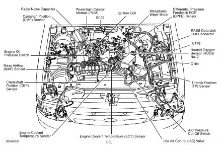 2000 Ford Ranger Oil Pressure Takeoff Location: Where Is