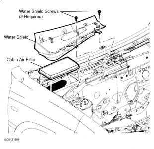 2008 Ford Escape Location of Cabin Air Filter for Hybrid